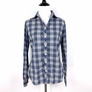 Banana Republic Soft Wash Fitted Plaid Shirt XS